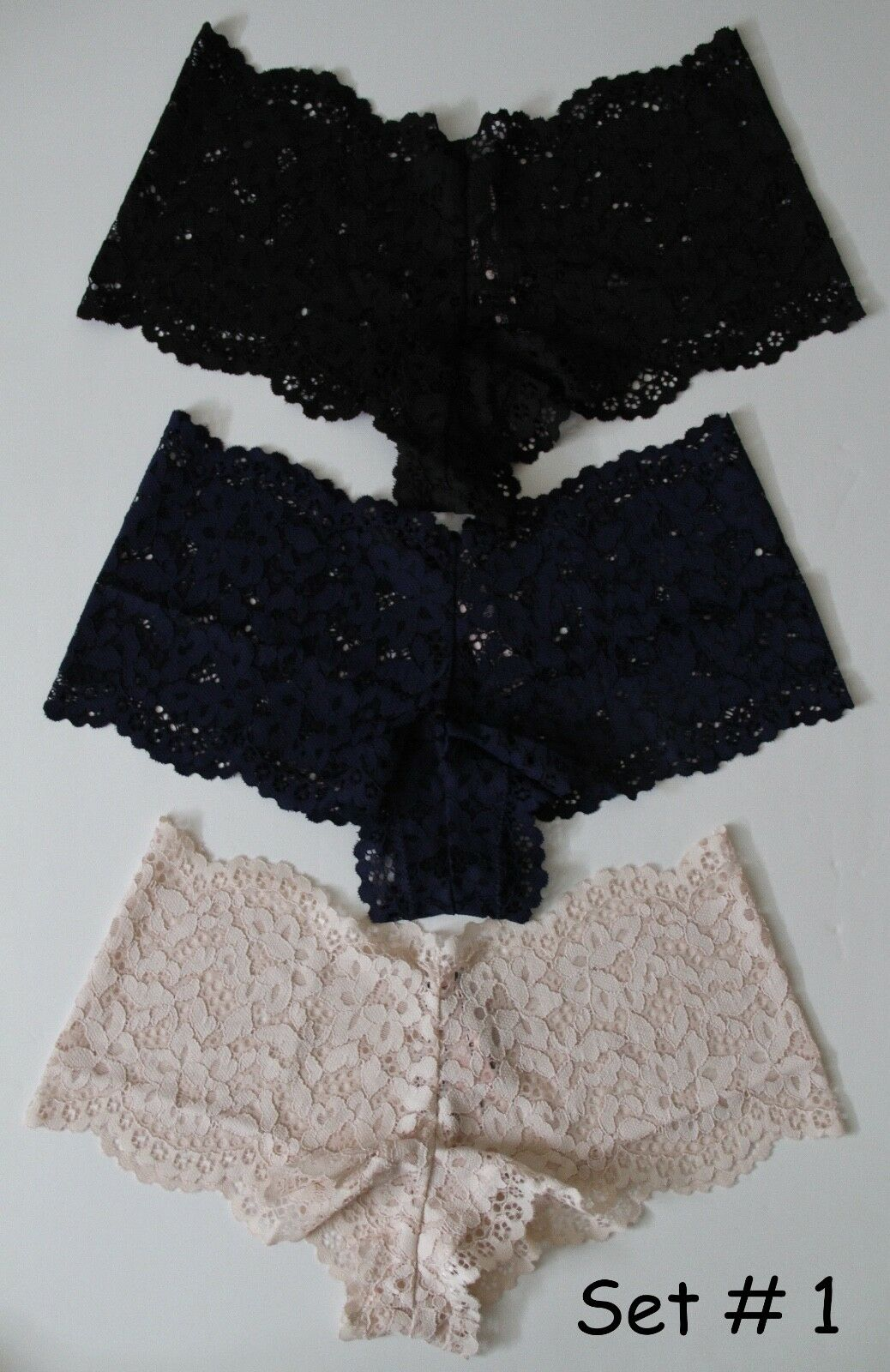 Victoria's Secret Body By Victoria The Floral Lace Sexy Shortie Panty- 3  35