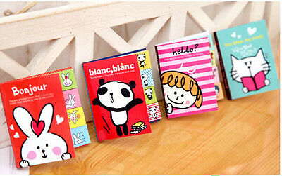 2 Fold Creative Stationery Cartoon Sticky Note Post It Bookmarker US Seller!!!