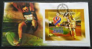 2001-Malaysia-Sports-XXI-SEA-Games-MS-FDC-mild-toned-nice-S-N-008338-KL-Cachet