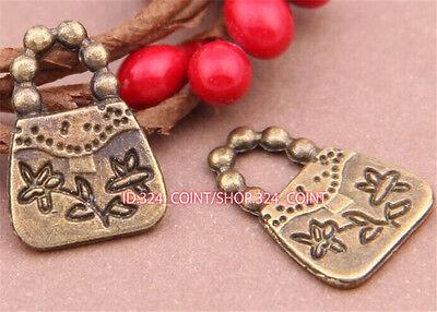 P697 20pc Antique Bronze handbag Pendant Bead Charms Accessories wholesale