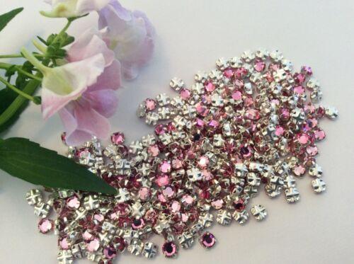 Swarovski Rose Montees Light Rose Prong Set Size Option Pack of 30 Sew On Craft