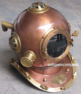 Full Size Marine Brass & Steel Deep Sea Divers Anchor Engineering Diving Helmet
