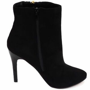 F50377 Synthetic High Heel Zip Up Ankle Boots Ladies Spot On