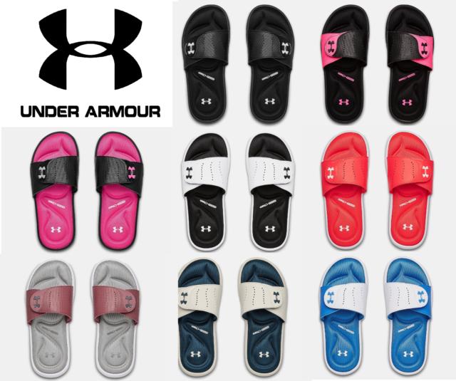 Neon Pink Athletic Slides Sandals