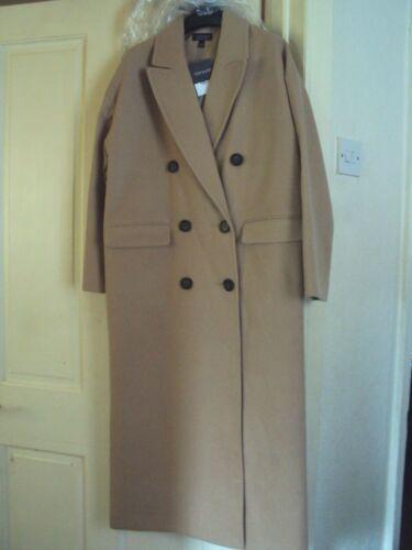 Largo Warm New Abrigo size Coat Tan mujer 8 para Color dZTp7qgx