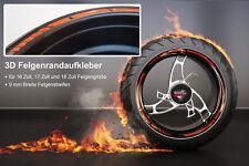 Felgenrandaufkleber GP-Style 3D KTM Orange 700003 für 16 Zoll, 17 Zoll, 18 Zoll