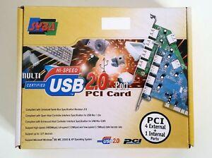 Syba-SD-V2-SU-PCI-USB-2-0-port-internal-card-4-ports-rear-1-internal-1-slot