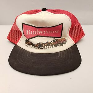 421fb36a Image is loading Vintage-Budweiser-Beer-Snapback-Mesh-Trucker-Hat-Cap-