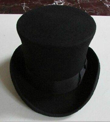 NEW Unique Mad Hatter 100%Wool Top Hat, Vivi, Magic Hat, Performing Cap