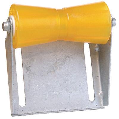 "Tiedown 86281 Boat Trailer Amber//Yellow Poly Keel Roller /& Bracket Kit 10/"""