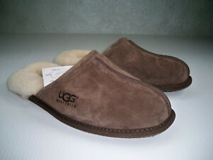 95d7cb35377 Details about NWT UGG Espresso Scuff Wool Lined Slippers Men's SZ 8