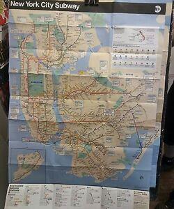 New York City Subway Map 2017.Details About Mta New York City Transit Subway Maps 2017