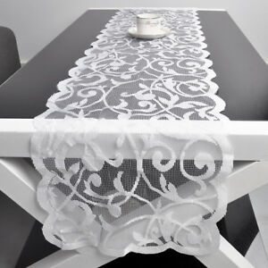 Image Is Loading White Vintage Lace Table Runner Dresser Scarf Wedding