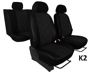 SKODA Octavia Mk3 2013 en adelante Tailored Fundas Eco Cuero Hecho A La Medida