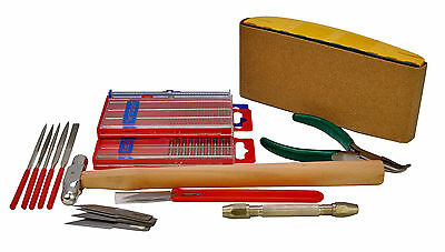 Model Boat Building & Craft Tool Set, Sanding Block, Files, Pin Vice etc S7642