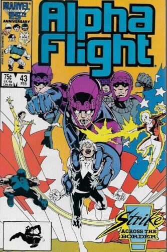 No.43 Bill Mantlo /& David Ross Vol.1 Alpha Flight 1987 The Sentinels