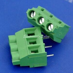 "100pcs 3 Poles 7.62mm//0.3/"" 30Amp PCB Universal Screw Terminal Block"