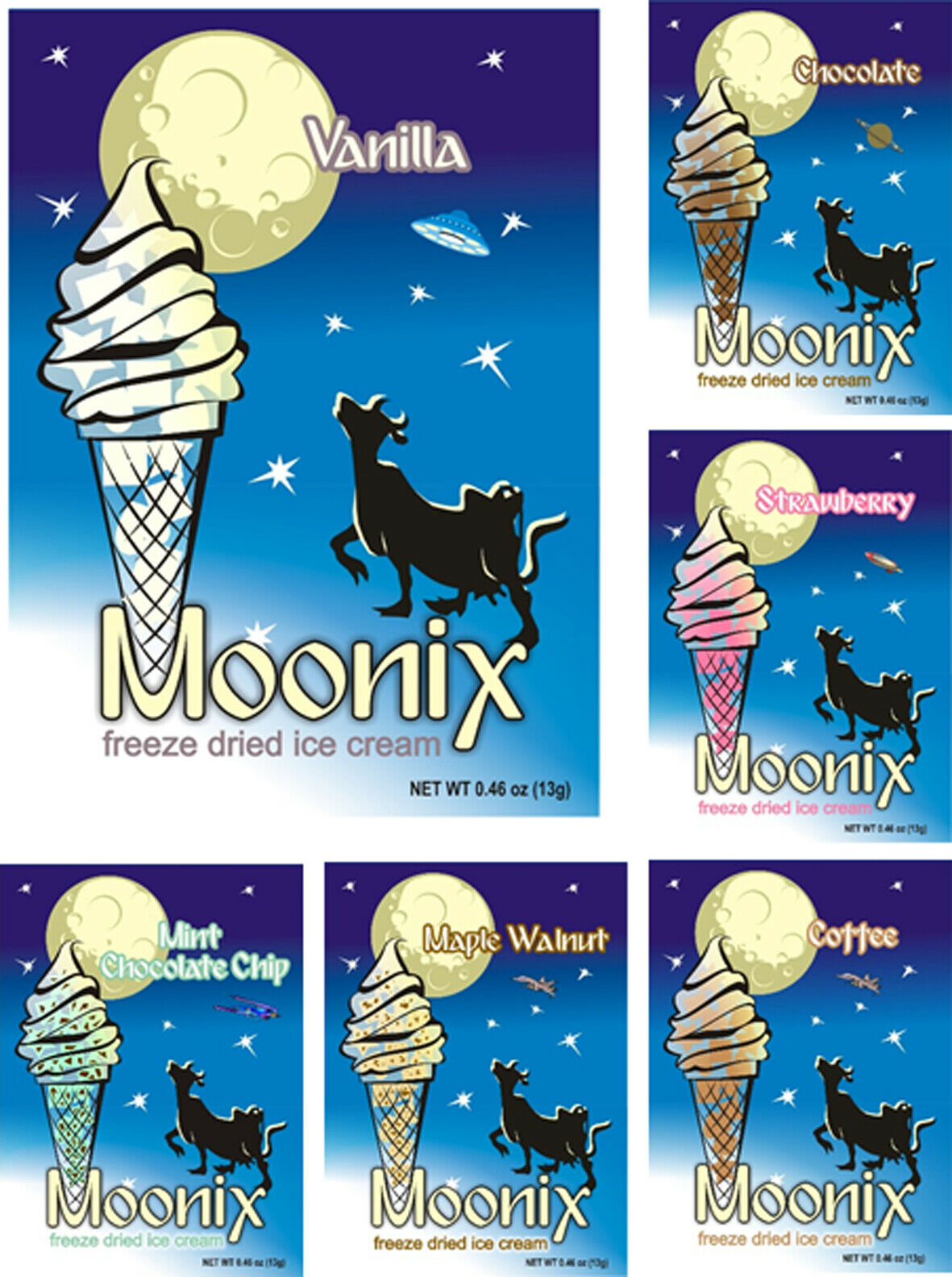 Moonix liofilizado Helado 25 CT