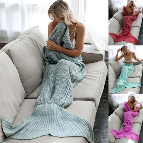 Newest-Mermaid-Tail-Handmade-Crocheted-Cocoon-Sofa-Blankets-Beach-Quilt-Rug-Knit