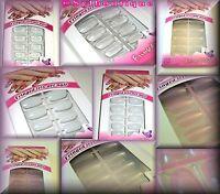 Boite De 12 Faux Ongles Multi-tailles Avec Tube De Colle: 4 Couleurs Au Choix