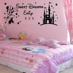 Personalised-Sweet-dreams-princess-minnie-mouse-wall-sticker-girls-bedroom