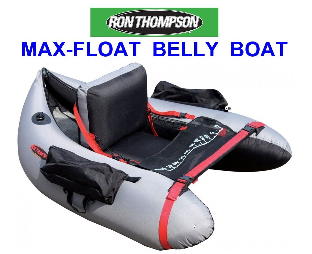 RON THOMPSON BELLY BOAT FLOAT TUBE FOR SEA COARSE CATFISH ROD FISHING CLONKING