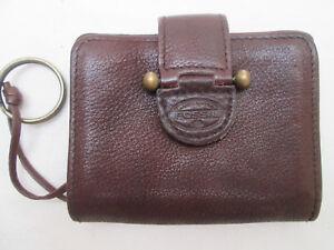 prix le plus bas 86ef8 d7f4c Détails sur -AUTHENTIQUE porte-monnaie FOSSIL cuir TBEG vintage