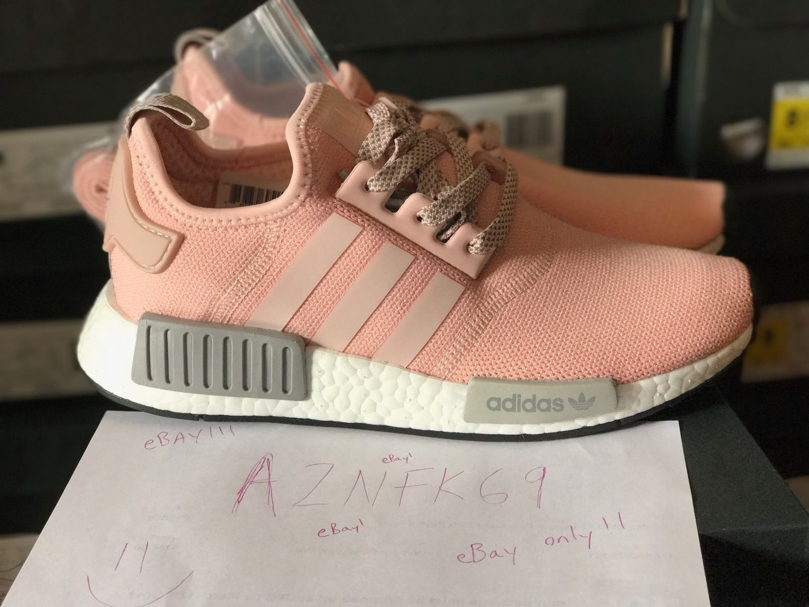 Adidas NMD R1 Runner Vapor Pink Light Onix Grey Offspring BY3059 Women's Price reduction Comfortable and good-looking