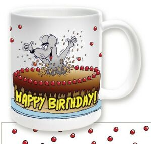Uli Stein Tasse Henkelbecher Tortenmaus Happy Birthday Z