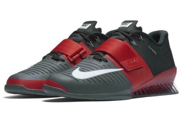 cheaper 8b6a9 bfce8 Size 13 Men s Nike Romaleos 3 Weightlifting Shoes Red Black Grey 852933 600  for sale online   eBay