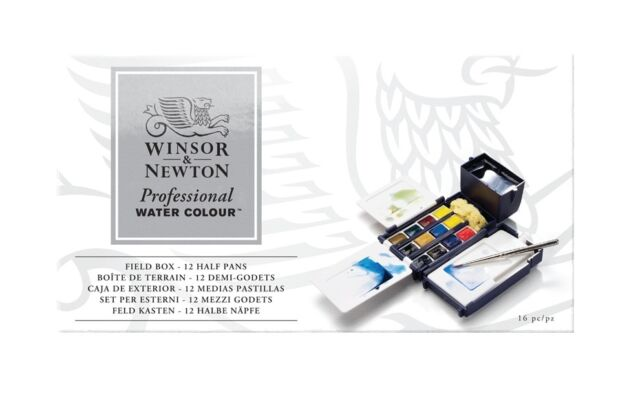 Winsor & Newton - Professional Water Colour Field Box (12 Half Pans)
