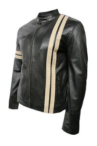 Style nera morbida Giacca Classic Biker Mens Racer Designer in Jason nappa w7XqZgCWx