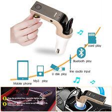 Bluetooth Handsfree FM Transmitter Radio USB Charger AUX Auto Car Kit MP3 Player