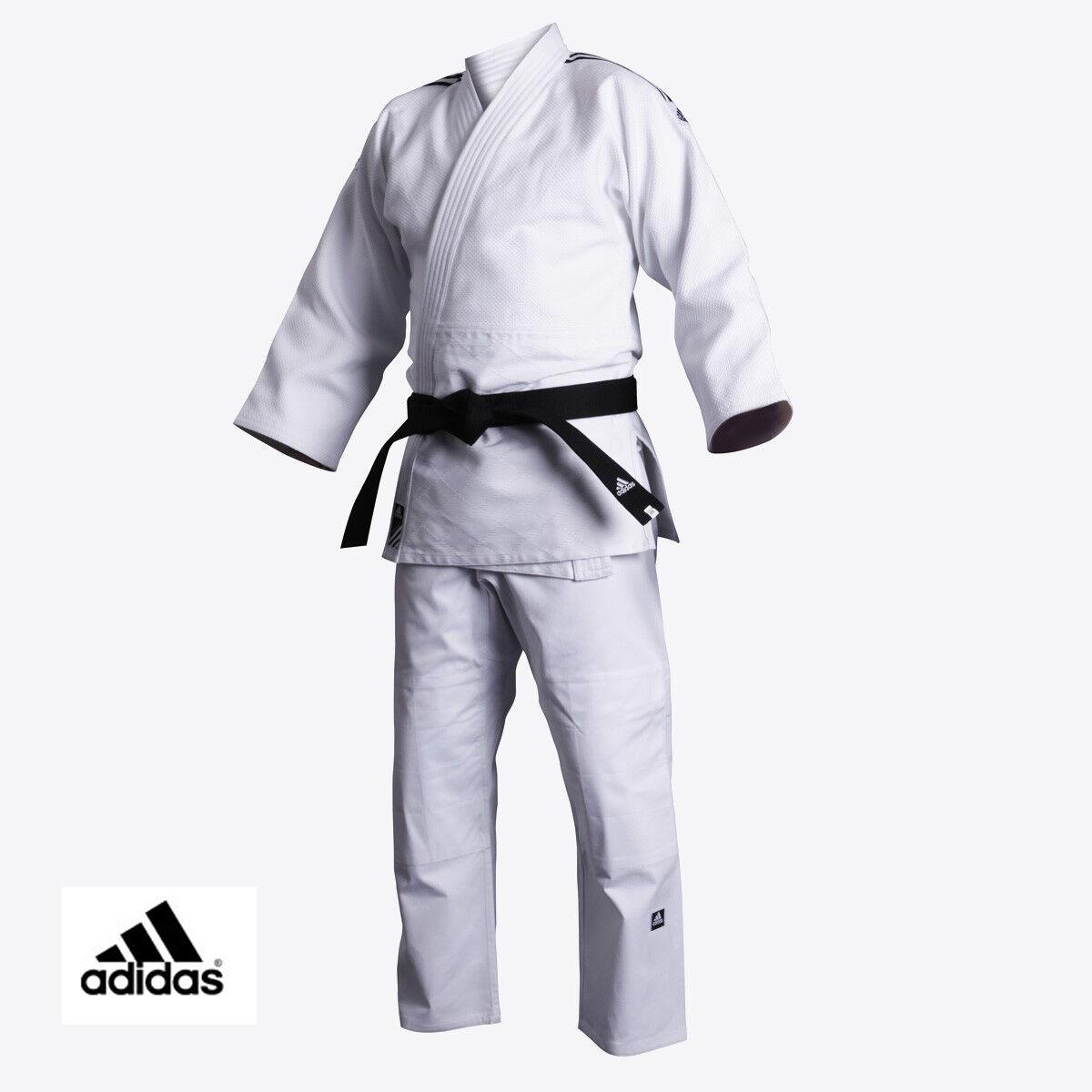 NEW adidas WHITE Judo CONTEST Gi DELUXE  Single Weave Judo Uniform-J650  big discount