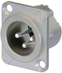 Neutrik 3-Wege Kabel Halterung XLR Verbindung, Stecker, silber ...