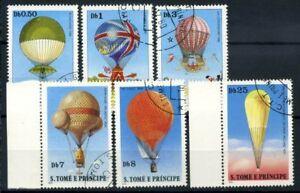 San-Tommaso-e-il-principe-Isole-1979-Mi-619-624-Usato-100-Storia-dell-039-Aviazio