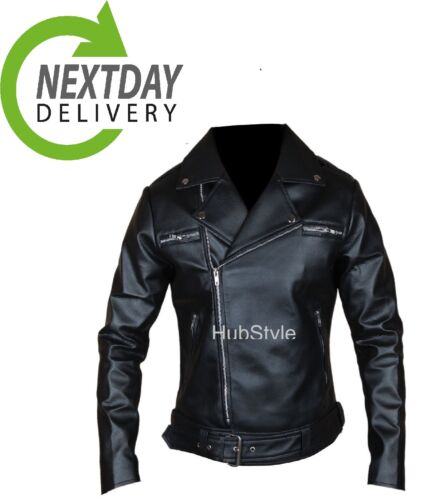 Dean Dead Negan cuir véritablefaux The Morgan Veste en motard Walking Jeffrey BoerWdCx