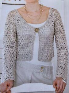 "Ladies 60/'s Style Shift Dress Crochet Pattern Chest 32-38/""  BR526"