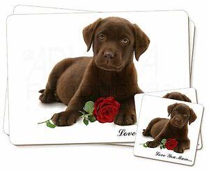 PERRO-ROSA-039-Love-You-Mum-039-Individual-2x-Manteles-2x-Posavasos-Set-en-GI