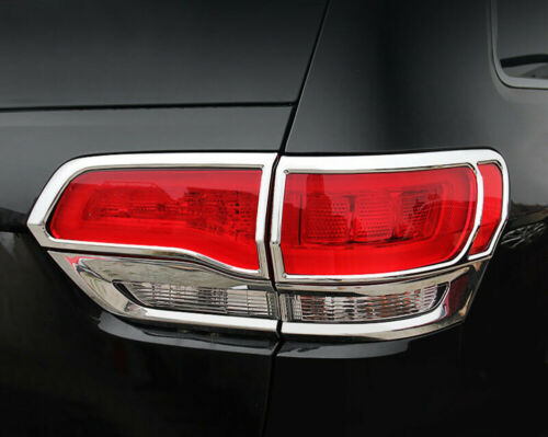 Chrome Tail Light Rear Lamp Cover Molding Trim for 2014-2019 Jeep Grand Cherokee