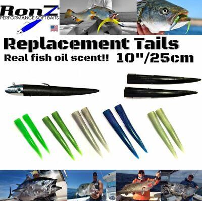 RONZ 3X102Z LEAD Z SERIES RIGGED HEAD /& TAILS 10/'/' 4OZ