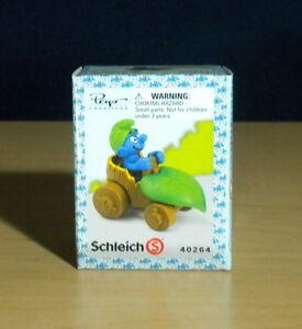 Smurfs-40264-Leaf-Car-Smurf-Wild-Rare-Vintage-Figure-PVC-Toy-Lot-Figurine-Peyo