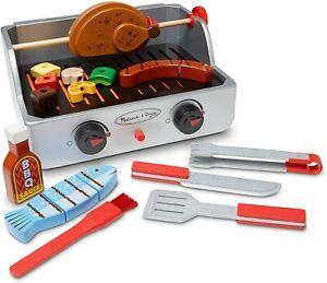 Melissa & Doug En Bois Rotisserie & Grill BBQ 24 Pièces jouet figurines & accessoires