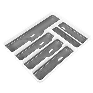 Organizador-De-Cubiertos-de-Plastico-de-Addis-6-compartimentos-inserto-de-cajon-almacenamiento-Caddy