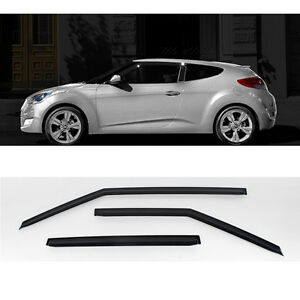 Smoke-Rain-Wind-Window-Guard-Visor-3p-for-2011-2017-Hyundai-Veloster-amp-Turbo
