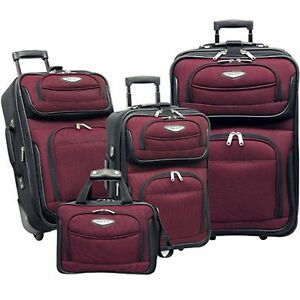Traveler-039-s-Select-Amsterdam-4-piece-Luggage-Set-RED