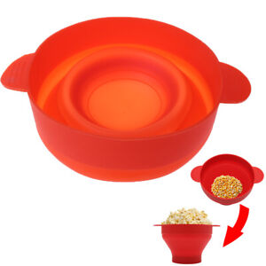 Microwave-Silicone-Popcorn-Popper-Maker-Collapsible-Bowl-Container-Kitchen-Tool