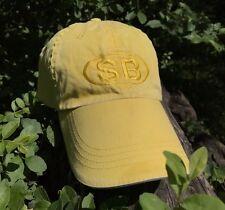 SB HAT YELLOW ADJUSTABLE STRAP BACK COTTON GOLF BASEBALL DAD HAT NYC SUPREME FIT