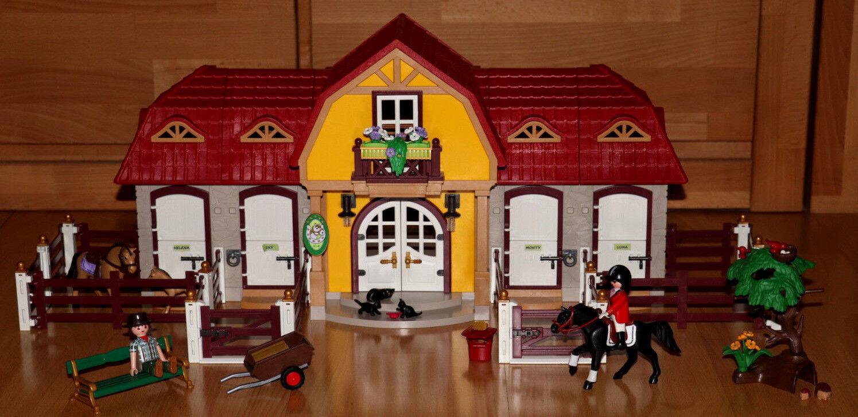 Playmobil 5221   Großer Reiterhof mit Paddocks   Country Pferdestall - Top