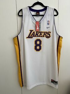 Details about Vintage Nike Los Angeles Lakers Kobe Bryant #8 Swingman Jersey Size XXL White